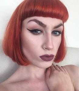 Blunt ginger bob