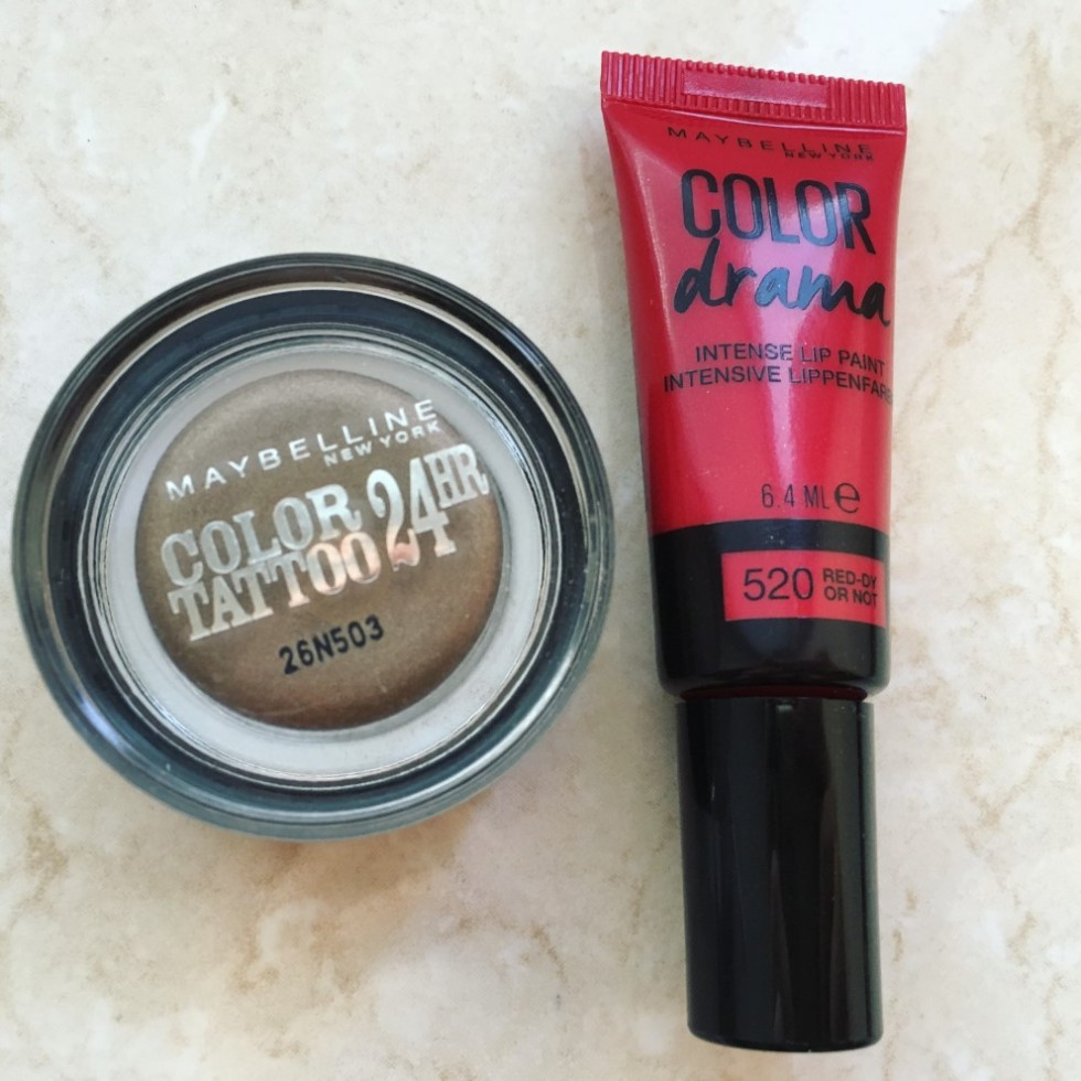 Maybelline Color drama and color tattoo