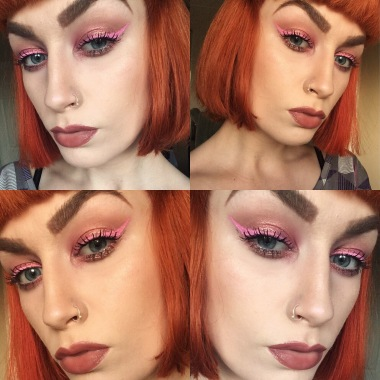 Mac Rose Pigment and NYX Vivid Brights Petal Liner