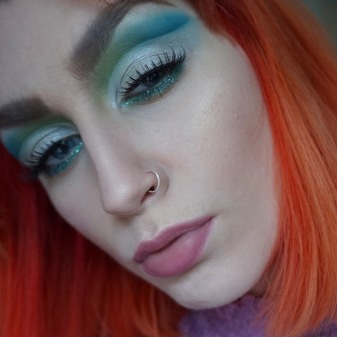 Urban Decay blue and green cut crease