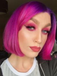 Pink and purple eye makeup